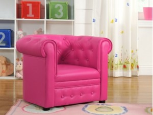 Fauteuil chesterfield rose