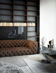Salon design et chesterfield