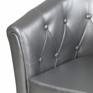 Fauteuil chesterfield gris