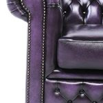 Fauteuil chesterfield violet